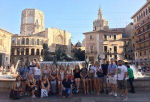 Tour por el centro histórico Valencia, Hispania, escuela de español