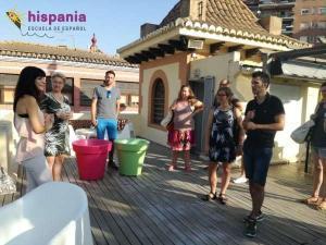 Welcome Tour, terraza, Hispania, escuela de español