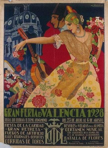 Feria Julio cartel antiguo