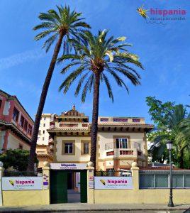 Hispania escuela de español frontal chalet edificio principal
