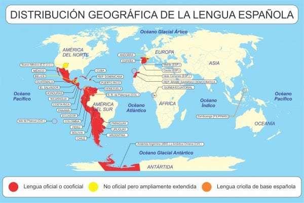Mapa Lengua española