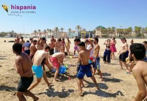 Clase en Playa de Valencia