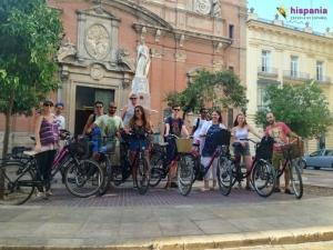 Ruta en bici por Valencia, Hispania, escuela de español