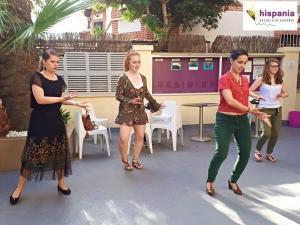 Clase de Flamenco Hispania, escuela de español