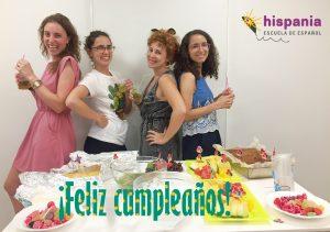 Cumpleaños de equipo Hispania, escuela de español