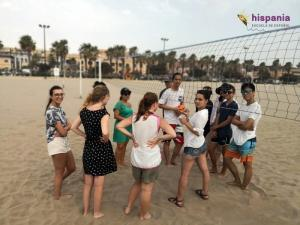 Partido Volley Playa hispania, escuela de español