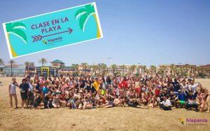 aprender español clase en la playa portada
