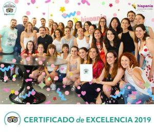 Hispania, escuela de español gets the TripAdvisor Certificate of Excellence 2019