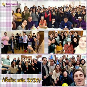 Feliz año 2020 Hispania, escuela de español
