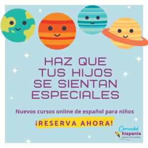 Español para niños, nuevos cursos online de español para niños en la Comunidad Hispania 3