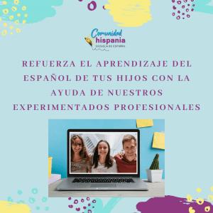 Español para niños, nuevos cursos online de español para niños en la Comunidad Hispania