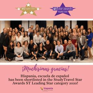 Hispania, escuela de español nominada StdyTravel Star Awards ST Leading