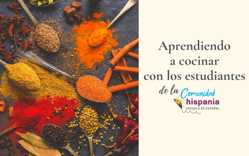 Aprendiendo a cocinar con los estudiantes de la Comunidad Hispania