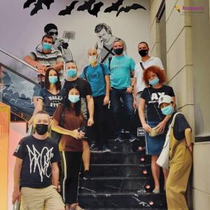 Escuela de español con mascarillas