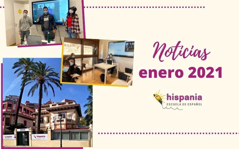 Noticias Hispania escuela de español enero 2021