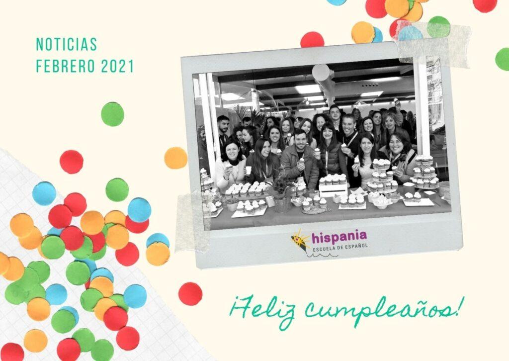 Portada Cumpleaños de Hispania, escuela de español